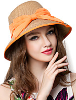 Women Straw Straw HatFacial Hydrating UV Cream,Vintage / Party / Casual Spring / Summer / Fall / All Seasons