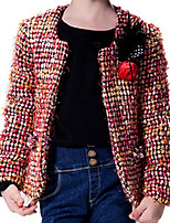 Girl's Red Jacket & Coat,Dresswear Wool Winter / Fall