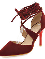 Women's Shoes Stiletto Heel Heels / Pointed Toe Heels Dress / Casual Black / Red / Beige