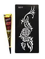 India golecha Hanna White Tribal Temporary Paints Tattoo Cream 30g (Single Purchase)