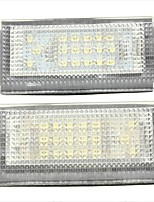 2PCS BM-W Mini Cooper S R50 LED License Plate Lamp 12V 14W LED with Special LED Decorder
