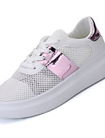 Women's Shoes / Flat Heel Comfort Fashion Sneakers Athletic / Casual Black / Pink / Silver