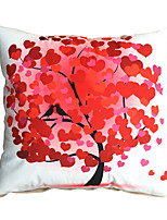 3D Design Print Red Tree Love Decorative Throw Pillow Case Cushion Cover for Sofa Home Decor Polyester Soft Material