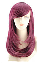 COS Color Cartoon Wig Long Pear Flower Has A Long Roll of Wine Red Wig Sell Like Hot Cakes