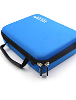 TELESIN Gopro Case for Gopro Hero 4/3+/3 and Accessories Travel Storage Protective Bags, Blue