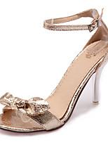 Women's Shoes Stiletto Heel Peep Toe / Open Toe Sandals Party & Evening / Dress / Casual Black / Silver / Gold