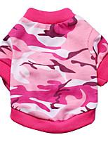 Katzen / Hunde T-shirt Grün / Rosa Sommer / Frühling/Herbst camuflaje Modisch, Dog Clothes / Dog Clothing-Pething®
