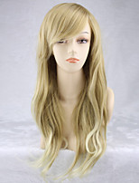 Europe And The United States The New Light Golden Side Natural Long Wigs