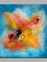 Colorful Wall Art Ready To Hang Abstract Modern / European Style Oil Painting,Canvas One Panel
