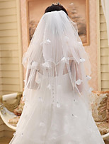 Wedding Veil Three-tier Fingertip Veils Cut Edge / Pencil Edge