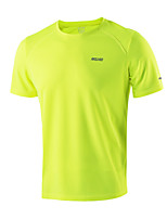 ARSUXEO Summer Men's Running T Shirts Active Short Sleeves Quick Dry Training Jersey Sports Clothing