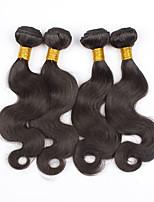3Bundles peruano onda del cuerpo del pelo virginal del pelo humano sin procesar teje la extensión del pelo de visón