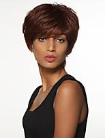 simple, charmant cheveux remy main liée top perruques courtes pour femme