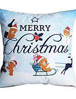 3D Design Pint Merry Christmas Decorative Throw Pillow Case Cushion Cover for Sofa Home Decor Polyester Soft Material