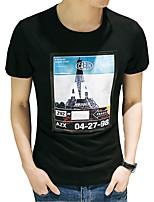 In the summer of 2016 new men's T-shirt slim T-shirt half sleeve T-shirt Korean men's T-shirt printing tide