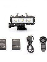 Professional Camera 30M Waterproof 3-LEDS Night Diving Fill Light For Gopor hero 3/3+/4/SJ4000