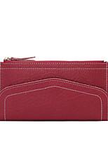 Women Cowhide Bi-fold Clutch / Wallet-Pink / Purple / Blue / Yellow / Gray / Black / Burgundy