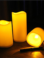 1pcs/Set Decorative LED Flameless Wax Pillar Candles Battery Operated Candle Light Electronic Candles
