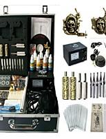 Basekey Tattoo Kit 2 Guns JHK0122 Machine With Power Supply Grips Cleaning Brush Ink Needles