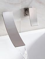 cascade lavabo robinet répandue design contemporain robinet (finition nickel)