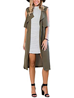 Trench Aux femmes Sans Manches Street Chic Polyester