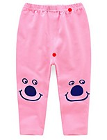 Girl's Pink / Yellow / Gray Pants,Cartoon Cotton Spring / Fall