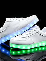 Men's LED Shoes Athletic / Casual Leatherette Fashion Sneakers / Athletic Shoes Black / White