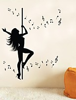 Dancing Girl Music Note Home Wall Sticker Living Room Removable Waterproofing Wall Decal Stickers Room
