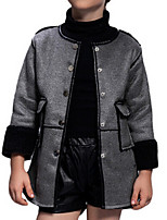 Girl's Jacket & Coat,Polyester Winter Pink / Gray