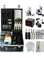 Basekey Tattoo Kit 2 Guns JHK062 Machine With Power Supply Grips Cleaning Brush Ink Needles