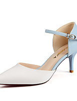 Women's Shoes Leatherette Stiletto Heel Heels Heels Party & Evening / Dress / Casual Pink / White