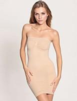 Feminino Com Busto / Plus Size Não Especificado Nylon / Elastano Feminino
