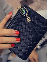 Women Sheepskin Tri-fold Wallet-Gold / Black