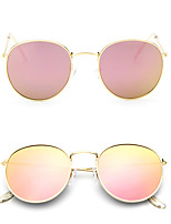 Fashion Women Retro Colorful Round UV400 Sunglasses