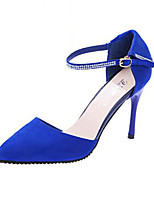 Women's Shoes Synthetic Stiletto Heel Heels Heels Party & Evening / Dress Black / Blue / Red