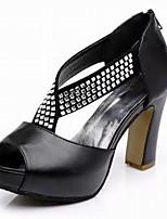 Women's Shoes PU Chunky Heel Peep Toe / Platform Sandals Office & Career / Dress / Casual