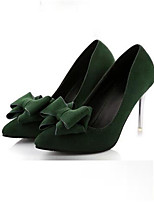 Women's Shoes Synthetic Stiletto Heel Heels Heels Party & Evening / Dress Black / Green / Red