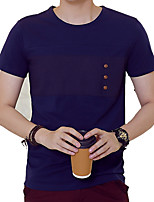 In summer men's T-shirt slim youth t-shirt cotton linen shirt dress tide half sleeve