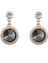 Fashion Elegant Rose Brand Double Sided Drop Earrings Big Shining Rhinestone Earrings For Women