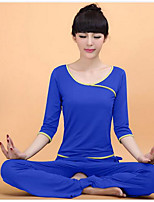 Yoga Pakken/Kledingsets Broek+Tops Ademend / wicking / Glad Hoge Elasticiteit Sportkleding Dames-Overige Yoga / Fitness / Recreatiesport