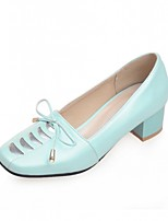 Women's Shoes Leatherette Chunky Heel Heels Heels Outdoor / Office & Career / Dress Blue / Green / Pink / White / Gray