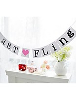 Unqiue Last Fling Bachelorette Hen Party Bridal Shower Banner Bunting Garland Signs with Ribbon