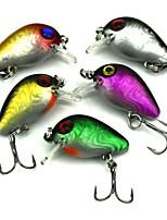 3cm 1.62g/Pcs Mini Micro Fishing Lures Floating Minnow Bait CrankBait Treble Hook 5 PC