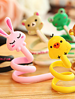 1Pcs Cartoon Animal Earphone Headphone Cable Roller Cord Organizer Wrap Winder(Random Color)