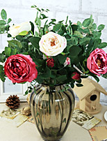 A Branch Silk Roses Artificial Flowers Wedding Flowers Multicolor Optional 1pc/set