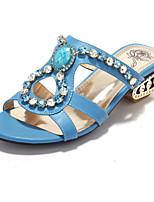 Women's Shoes Glitter / Customized Materials Chunky Heel Comfort Sandals Wedding / Party & Evening / Dress