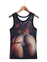 3D Pattern Male As Picture Cosplay Fatal Attraction Vest