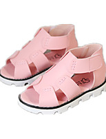 Girls' Shoes Dress / Casual Comfort Leatherette Sandals Pink / Red / White