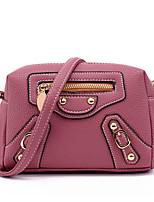 Women PU Saddle Shoulder Bag / Satchel-Pink / Purple / Red / Gray / Black