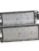 2PCS Re-nault Twingo Megane Kombi Laguna II LED License Plate Lamp 12V 14W LED with Special LED Decorder